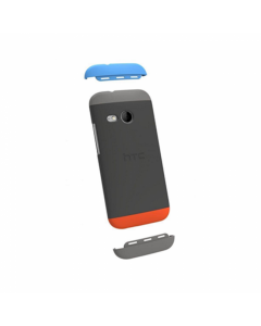 Official HTC One Mini (M4) Double Dip Hard Shell (HC C850) - Grey, Blue and Red