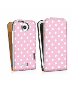 KOLAY Leather Flip Small Polka Dot One X / XL Case - Pink