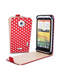KOLAY Leather Flip Small Polka Dot One X / XL Case - Red