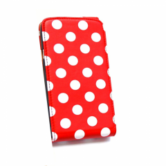 KOLAY Leather Flip Big Polka Dot One X / XL Case - Red