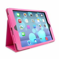KOLAY PU Folding iPad Air Case - Hot Pink