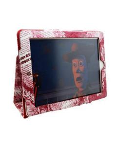 Ryse Newspaper Folio iPad Case - Red