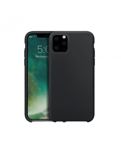 XQISIT Protective Silicone iPhone 11 Pro Max Case - Black