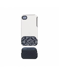 Glamrox Night and Day iPhone 4 / 4S Case - White and Lace