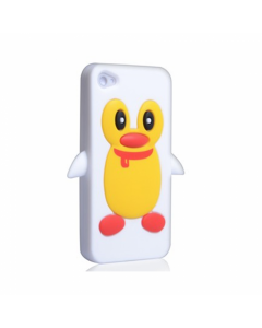 KOLAY Penguin Silicone iPhone 4 / 4S Case - White