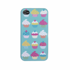 Trendz Cupcakes Hard Clip-On iPhone 4 / 4S Case - Green