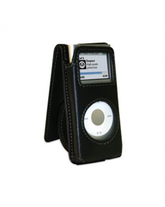 Exspect Leather Flip iPod Nano 2G Case - Black