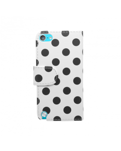 Ryse Polka Dot Wallet iPod Touch 5G / 6G / 7G Case - Black and White
