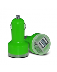 MPA Dual USB In-Car Charger / Adapter - Green