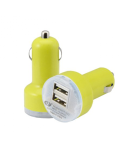 MPA Dual USB In-Car Charger / Adapter - Yellow