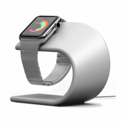 Pugo Top Apple Watch Charging Stand - Silver