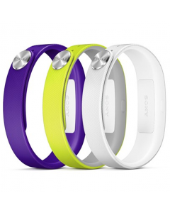 Official Sony SWR110 Small SmartBand Wrist Strap -  Purple, Yellow and White