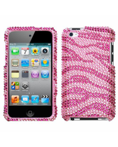 Ryse Crystal Zebra Hard iPod Touch 4G Case - Pink / Red